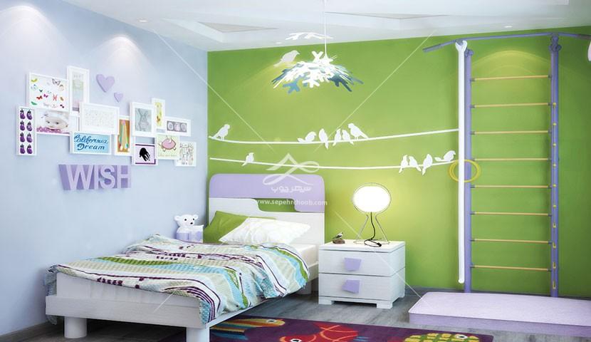 اتاق خواب کودک سبز