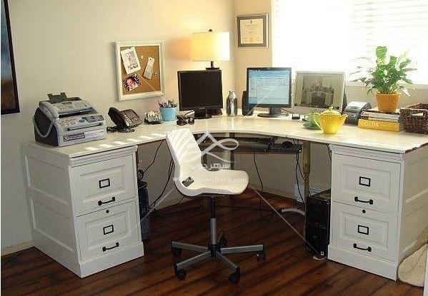 ست میز لپ تاپ و دراور برای اتاق کار خانگی