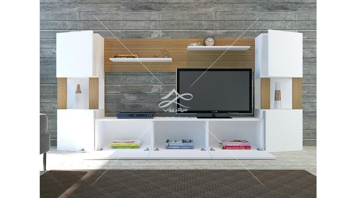 میز تلویزیون با قفسه های کاربردی