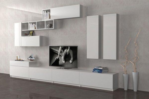 میز تلویزیون دیواری سفید