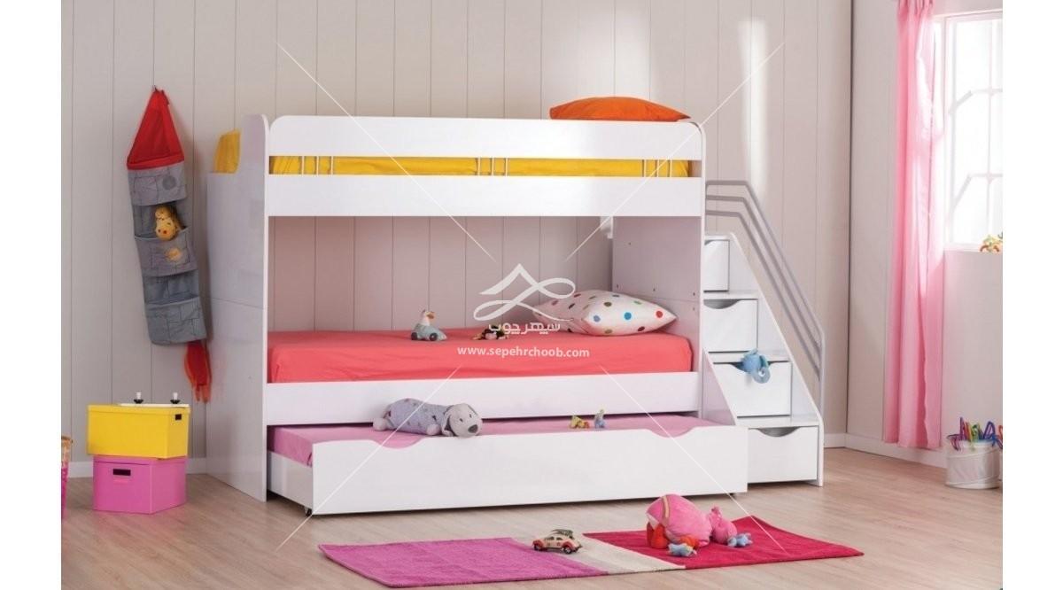 تخت دو طبقه دخترانه