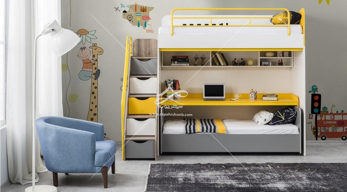 تخت های دو طبقه کودک