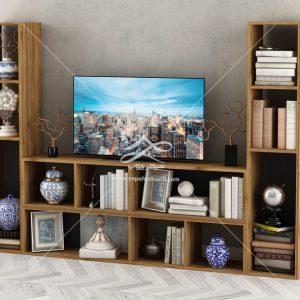 میز تلوزیون طرح چوب