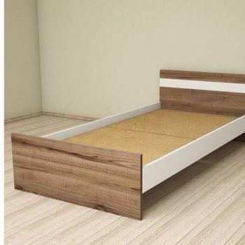 تخت تک نفره نوجوان - سفید و چوبی مدرن