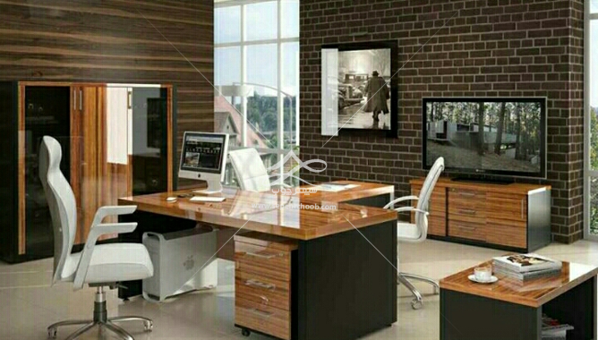 میز تحریر اتاق کار خانگی