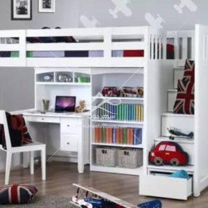 تخت خواب دو طبقه سفید
