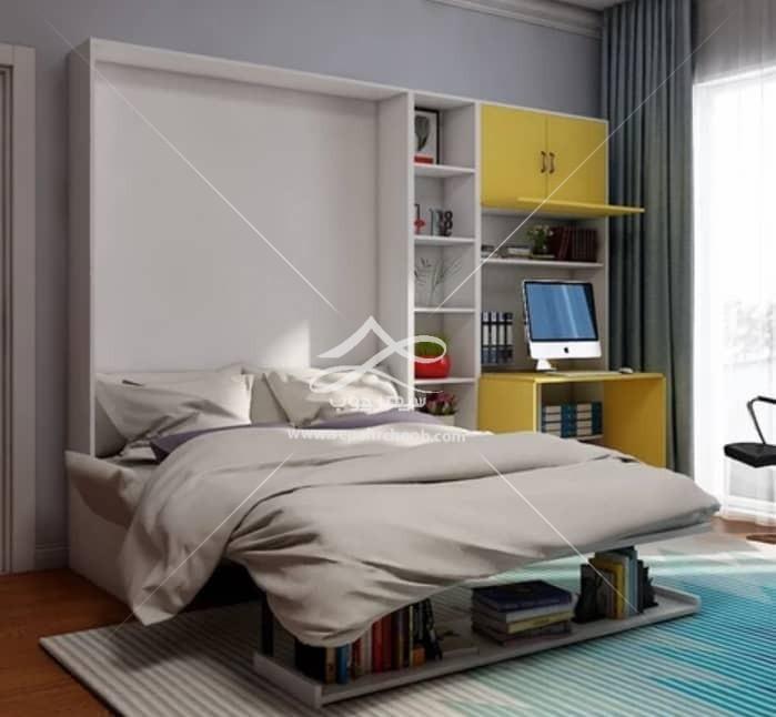 مبل تخت خواب شو سفید زرد