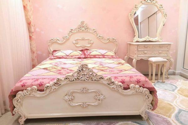 تخت دو نفره کلاسیک شیک