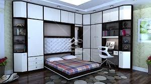 خرید تخت خواب تاشو ام دی اف سفید