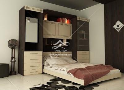 خرید تخت خواب تاشو کم جا ام دی اف