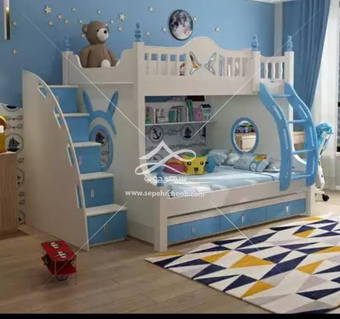 قیمت تخت دو طبقه پسرانه ابی