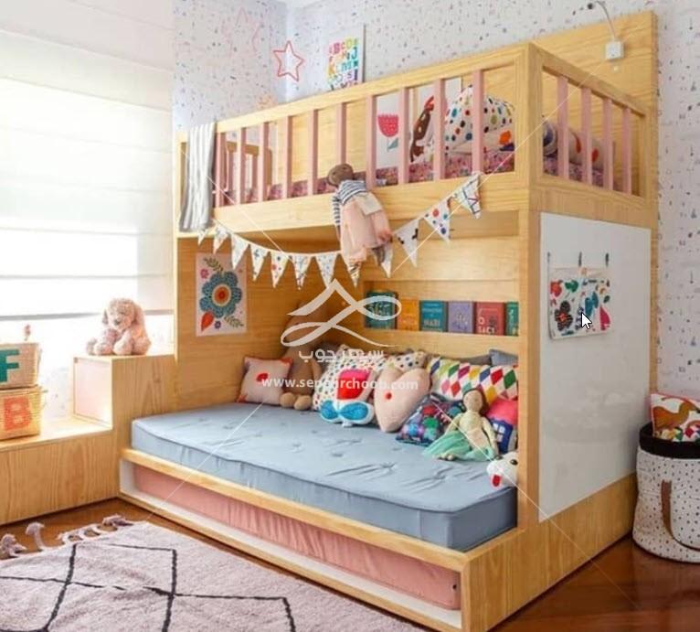 طراحی تخت خواب دوطبقه جذاب