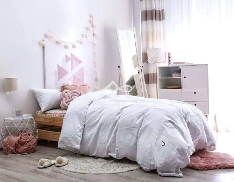تخت تک نفره چوبی دخترانه