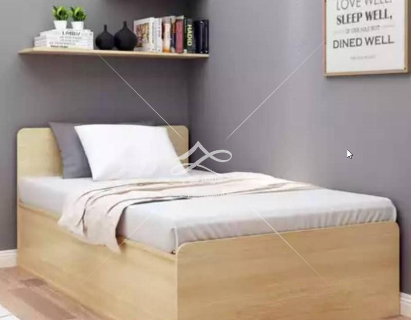تخت تک نفره چوبی ساده
