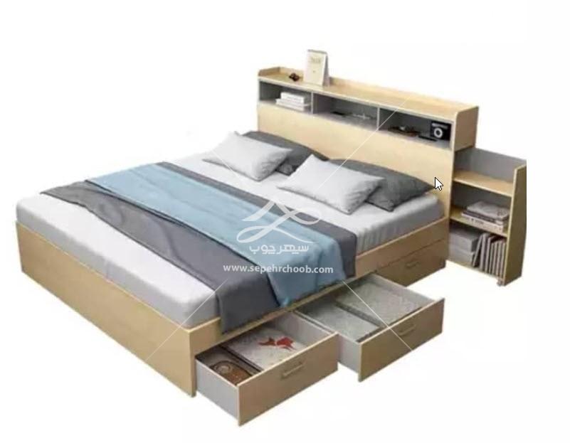 تخت چوبی جادار زیبا